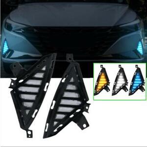 DRL For 2021+ Hyundai Elantra LED daytime running light Bumper fog light signal