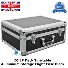 2 x plato giratorio para DJ Lp Cubierta Estuche Vuelo de almacenamiento de información de aluminio negro Peso Ligero