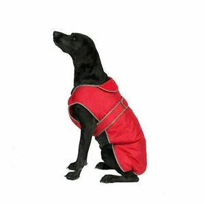 X-LARGE ANCOL Muddy Paws STORMGUARD RED Waterproof Fleece Lined Dog Coat BNWT