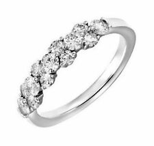 Eternity Good Cut Round White Gold Fine Diamond Rings
