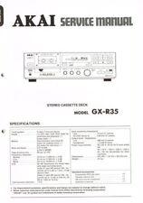 AKAI GX-R35 Cassette Deck  Manual Schaltplan ORIGINAL und aufwändig