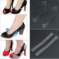 2 Pair Transparent Invisible High Heel Shoe Straps For Holding Loose shoes lA