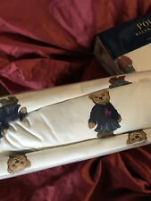 RALPH LAUREN POLO TEDDY BEAR WHITE  3 PC TWIN  SHEET SET