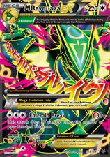 M rayquaza ex - 105/108 roaring skies-fullart ex carte anglais pokemon NM