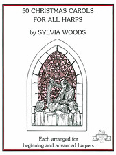50 Christmas Carols for All Harps by Sylvia Woods
