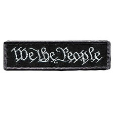 We The People New Swat Military Tactical Patch Tape Army Morale Badge Black New