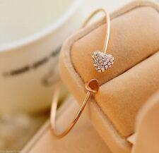 Bracelet Bangle Womens Charm Crystal Gift Fashion Crystal Peach Heart Punk Cuff
