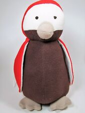 "Pottery Barn Kids 16"" Plush Penguin Red Fleece Puffin PBK"