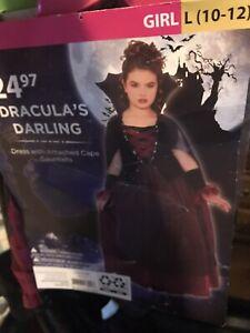 Halloween Costume Girl Dracula's Darling Large 10-12