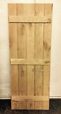 Bespoke Butt & Bead Solid Oak Ledge And Brace Doors 760mm X 1980mm Kit Form