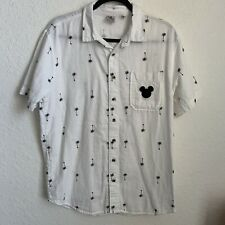 New listing Disney Junk Food Shirt Mens Size M Mickey Mouse Button Up Short Sleeve Palms