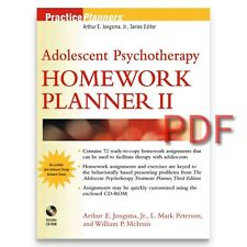 The Adolescent Psychotherapy Homework Planner P DF SentTo E Mail Readdescription