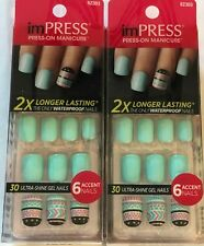 Lot of 2, Kiss Impress Press-On Manicure, Bells & Whistles