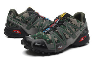 Hot Men's Outdoor SLM Speedcross 3 Green camouflage Sports Hiking Shoes