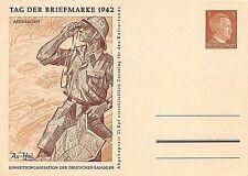 GERMANY - POSTAL STATIONERY / POSTCARD - DAY OF THE STAMP 1942 - AFRIKAKORPS