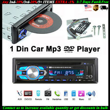 Single 1 Din Car DVD CD MP3 Player BT Audio Stereo USB/AUX/SD Radio In-dash FM