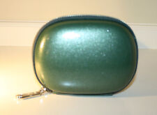 Creme de La Mer Logo Cosmetic Makeup Bag / Case Pearlized Green Clam Shell