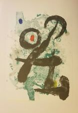 Orig Color Lithograph JOAN MIRO Derriere Le Miroir Large Edition 1963 Unframed