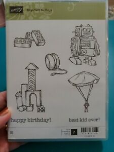 Stampin' Up! BOYS WILL BE BOYS Stamp Set  LEGOS!  Best Kid Ever!