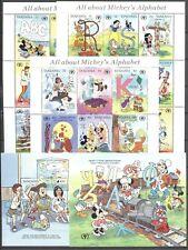 Walt Disney, Alphabetisierung - Tansania - 775-801, Bl.135-136 ** MNH 1991