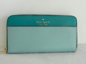 NWT KATE SPADE NEW YORK STACI COLORBLOCK LG CONTINENTAL WALLET WLR00120