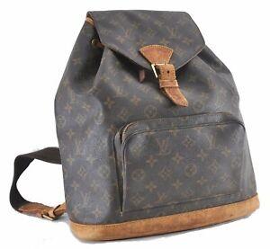 Authentic Louis Vuitton Monogram Montsouris GM Backpack M51135 LV D5033