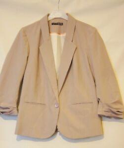 Women's suit jacket toffee colour size 10 smart elegant  new no tag