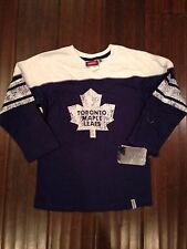 Toronto Maple Leafs NEW Youth Small Reebok Face Off Collection L/S T-Shirt . NHL