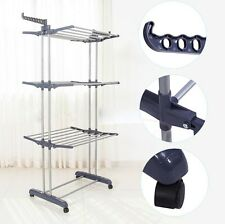 Heavy Duty Laundry Organizer Folding Drying Rack Clothes Dryer Hanger Stand Home