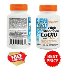 Coenzyme Q10 CoQ10 100mg w/BioPerine 120 Softgels Heart Health Energy High Absor