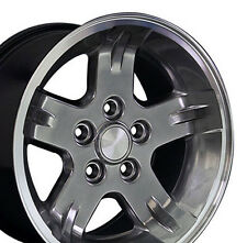 "15"" Wheels For Jeep Grand Cherokee Wrangler 15x8.0 Gunmetal 5x114.3 Rims Set"