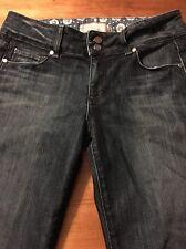 Paige Hidden Hills Luxurious Stretch Women's Dark Crop Jeans Size 28