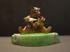 "All Original SWISS MILK ""Lait A L Ours"" Bisque Ashtray Mint Condition Bear 1900"