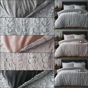 New Teddy Luxe Faux Fur Duvet Set Cover Quilt Cover Thermal Warm Soft Bedding