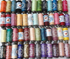 100% Pure Cotton Sewing Threads Spools All Purpose Stitching Reels - 50 Colours