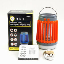 Solar + USB rechargeable mosquito trap, outdoor waterproof camping,Orange