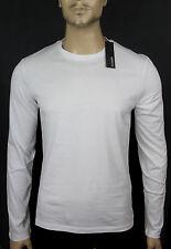NEW$BEAUT JIL SANDER BEAUTIFUL LONG SLEEVES WHITE CREW NECK 100% AUTH T SHIRT S