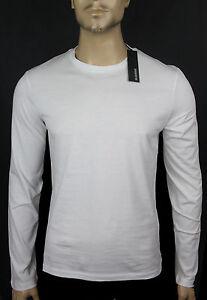 NEW$BEAUT JIL SANDER BEAUTIFUL LONG SLEEVES WHITE CREW NECK 100% AUTH T SHIRT XL