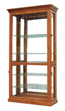 Morgan 2000 High Blackwood Timber & Glass Display Cabinet - BRAND NEW