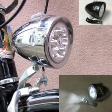 0125 Faro Anteriore Cromato Sport a dinamo per Bici 26-28 Retrò Old Style