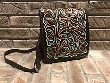 New ListingPatricia Nash Granada Crossbody In Tooled Turquoise Leather, Nwt, Msrp $149.00