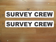 "SURVEY CREW 3""x24"" Magnetic Vehicle Signs to fit Van Car Truck or SUV"