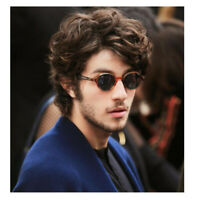 Short Curly Men Wig Male Layered Natural Dark Brown Wave Synthetic Hair Cosplay