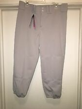 NEW Mizuno Softball Pants Womens Size XL Grey Low Rise Performance Plus Padding