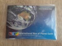 2008 International Year of Planet Earth Two Coin Unc Set ( 20 Cent Piece Only)