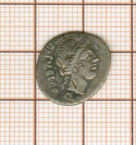Quinaire république romaine flan inhabituellement large , Egnatuleia 97 av JC
