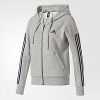 ADIDAS ESSENTIALS 3STRIPES FULL ZIP HOODIE SUDADERA ORIGINAL GRIS S97061