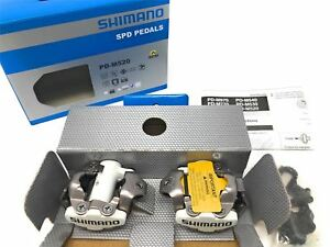 NEW Shimano PD-M520W EPDM520W SPD MTB Pedals (Clipless, SM-SH51 cleats, White)