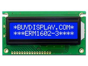5V Blue 16x2 LCD Module Character Display w/Tutorial,HD44780,Bezel,Arduino