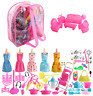 Barbie Clothes and Accessories Set 125 pcs Include Party Gown Outfits Shoes NEW